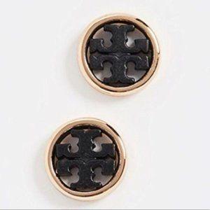 NWT Tory Burch Mini Black Stud Earrings
